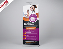Free PSD : Professional Agency Roll Up Banner PSD