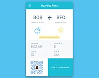 Boarding Pass with Weather and Packing Tips