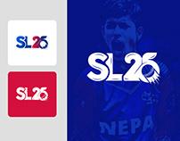 SL25 (Sandeep Lamichhane 25) Logo