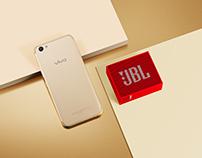 vivo x JBL/美若清池,音如涟漪。手机音箱天猫合作专题页制作