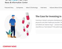 Medical Site Design - Wireframes and Illustration