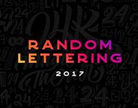 Random Lettering 2017