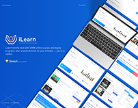 Online Course and Degree Dashboard template