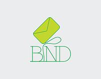 Logo design BIND letter messanger snail mail