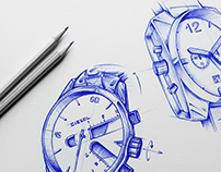 Watches & Glasses Sketches