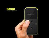 Radio. Industrial design for launch of Kickstarter