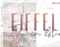 TRIO FONT|| EIFFEL IN LOVE || FREE SLANT