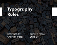 Typography Rules Poster
