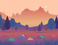 landscape I vector illustration