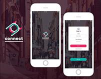 Connect app concept