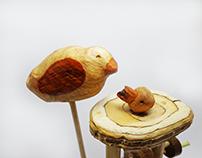 Automata Toy - Pássaro Faminto