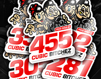 Cubic Inches Stickers