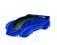 Futuristic Car Concept Illustration