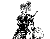 Amazon (Diablo 2) | pen drawing | 2012