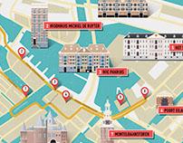 map: Amsterdam tour