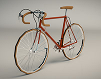Low Poly Vintage Racing Bike