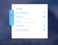 Settings Checkbox Modal