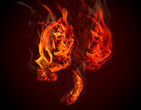 Flaming Skull I Graphic Stock Tutorial