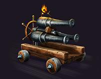 Triple cannon