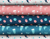 Pattern Design Collection Fabric Stack Mock-up
