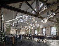Restaurant Interior Montage - CGI