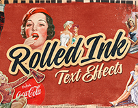 Rolled Ink Text Effects