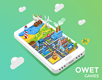 An Isometric Illustration for Gamification business