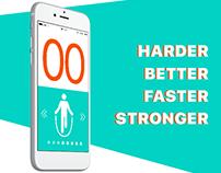 Дизайн приложения Табата-таймер.Tabata-timer app design