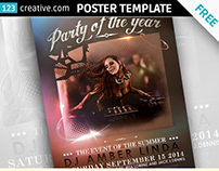 Free Classy Event poster template