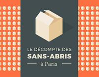 Le décompte des sans-abris à Paris