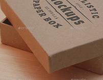 Paper Box Realistic Mockups