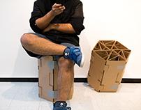 Modular Reconfigurable Cardboard 'Chair'.