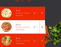 Onlene Pizza Order App design