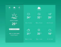 Forecast tab weather app.