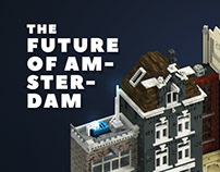 The future of Amsterdam. Voxel art