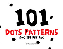 101 Dots Pattern Vector Pack