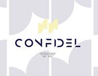 """Айдентика для кондитерской """"Confidel"""""""