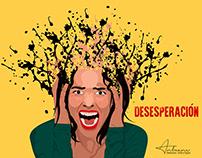 """Ilustración """"Desesperación"""""""