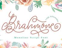 Brahmone Monoline Script Font