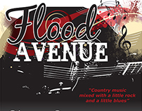 Flood Avenue - Band Logo & Poster Designs