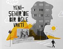 book cover design, yenisehir'de bir ogle vakti.