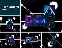 Neon Note 10 MockUp