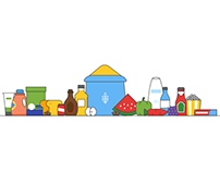 Grocery & Home Needs - Icon Design