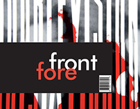 Forefront magazine: Spread & Cover design