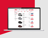 Page catalog of rental cars