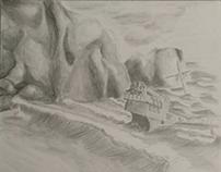 Drawing Final - ship wreck