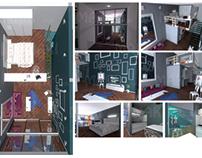 3D Interior Design and rendering of Studio Aprtment