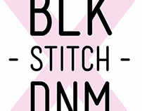 BLK stitch DNM