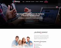 FINTECH - Website LANDING PAGE- Graphic Design