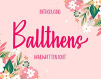 Balthens - Handwritten Font